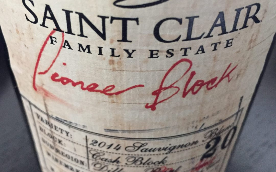 Tasting Review: 2014 Saint Clair Pioneer Block 20 Sauvignon Blanc