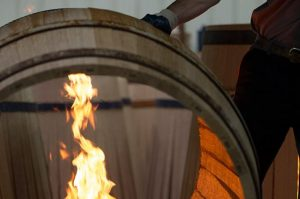 Toasting-oak-barrels 10KBottles Compare French and American Oak